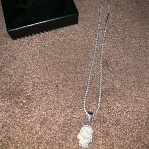 Other - Cz diamond tennis chain with pendant